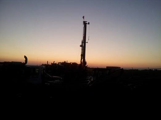 Sunset Drill Rig